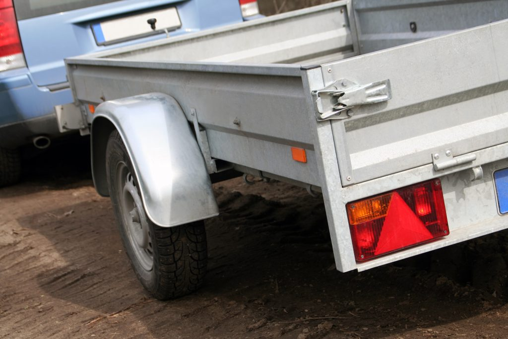Car towing a trailer